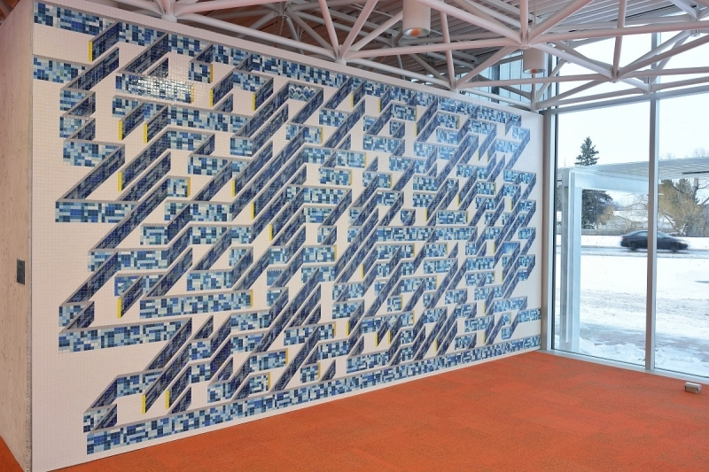 15.9 Winnipeg Public Library.Windsor Park Branch. Mural Tributaries. Credit...