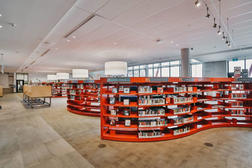 6.4 Markham Public Library, Aaniin Branch.Children's area-The Worm. Credit.Kayla...