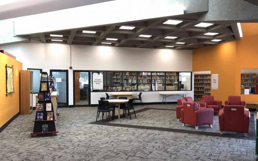 5.3 Lethbridge Public Library, Main Branch. Reference and new First nations Metis and Inuit area called Piitoyiss in the Blackfoot language meaning Eagles'...